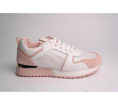 Buty sportowe 5315 białe + róż